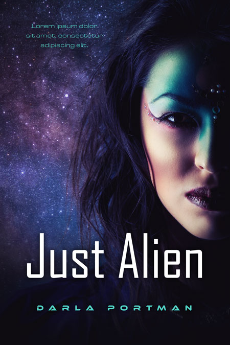 Just Alien - Science Fiction Premade Book Cover For Sale @ Beetiful Book Covers
