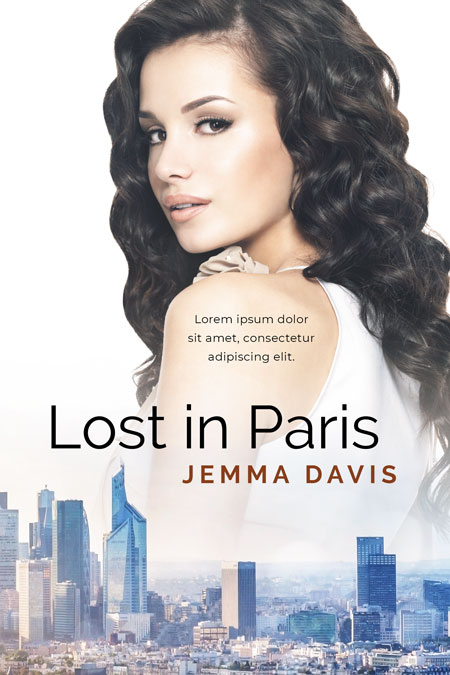 Lost in Paris - Women's Fiction / Contemporary Romance Premade Book Cover For Sale @ Beetiful Book Covers