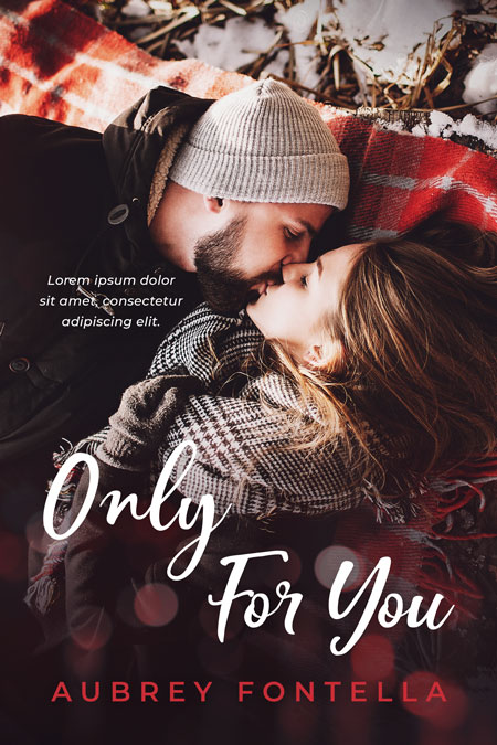 Only For You - Winter Romance Premade Book Cover For Sale @ Beetiful Book Covers