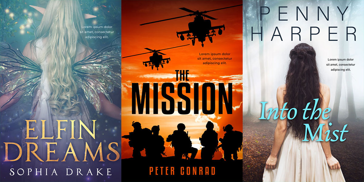 35 New Action, Mystery, Science-Fiction, Fantasy and Young Adult Premade Book Covers