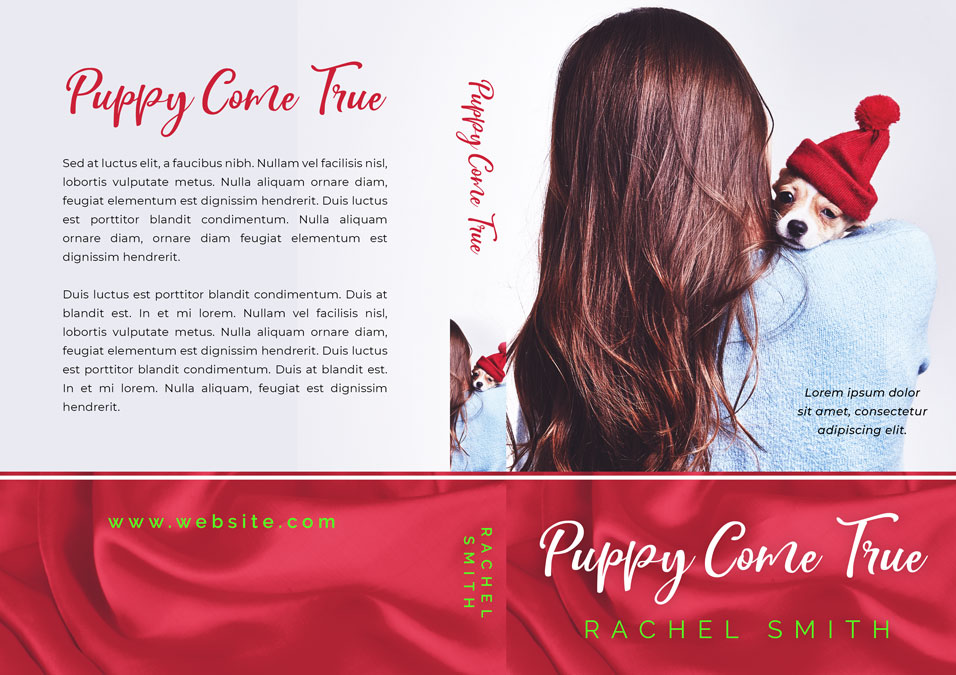 Puppy Come True - Christmas Fiction Premade Book Cover For Sale @ Beetiful Book Covers