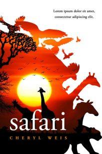 Safari - Animal Premade Book Cover For Sale @ Beetiful Book Covers