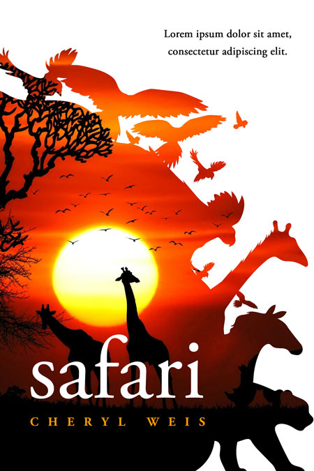Safari - Animal Premade Book Cover For Sale @ Beetiful Book Covers