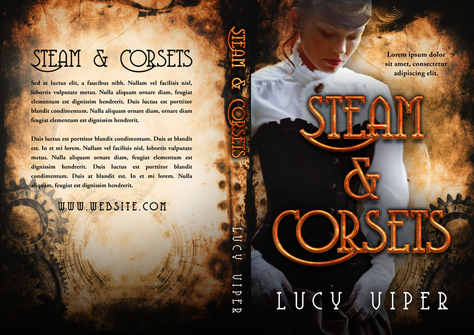 Steam & Corsets - Steampunk Premade Book Cover For Sale @ Beetiful Book Covers