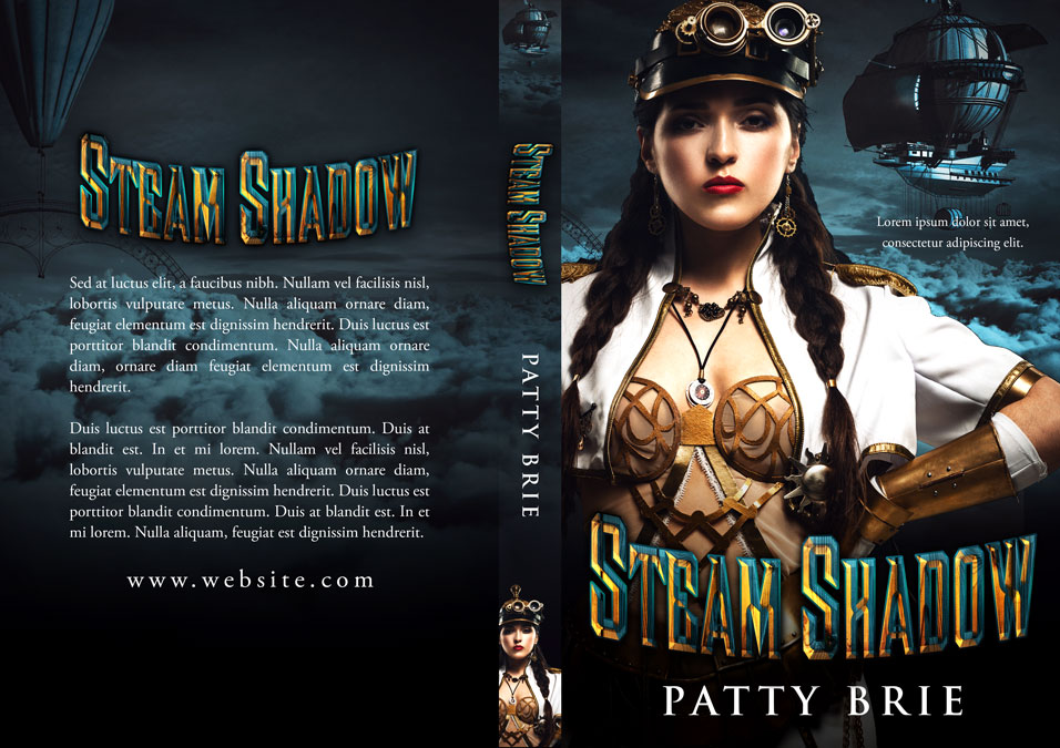Steam Shadow - Steampunk Premade Book Cover For Sale @ Beetiful Book Covers