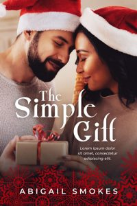 The Simple Gift - Interracial Christmas Romance Premade Book Cover For Sale @ Beetiful Book Covers