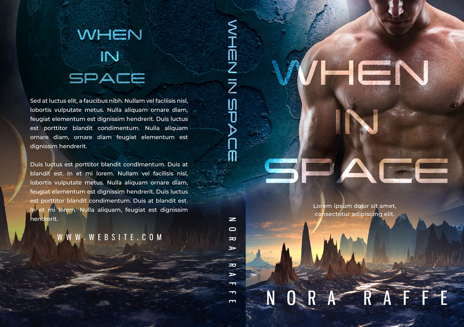 When In Space - Science-Fiction Romace Premade Book Cover For Sale @ Beetiful Book Covers