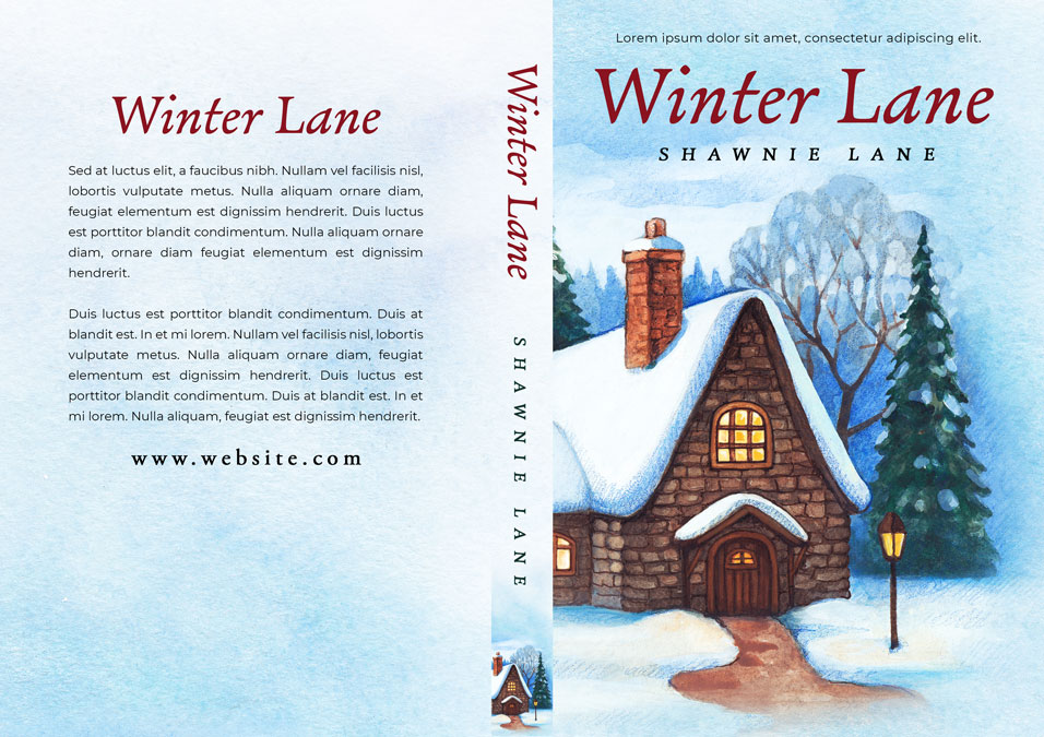Winter Lane - Christmas Fiction Premade Book Cover For Sale @ Beetiful Book Covers