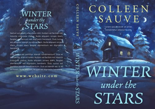 Winter Under the Stars - Christmas Fiction Premade Book Cover For Sale @ Beetiful Book Covers