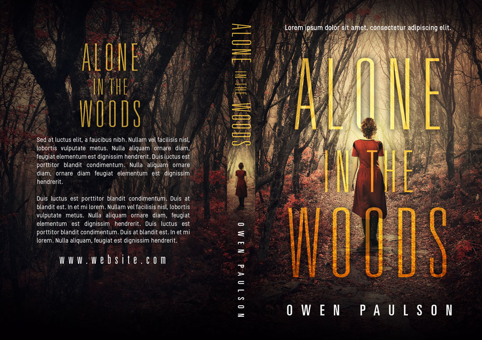Alone In The Woods - Mystery / Thriller Premade Book Cover For Sale @ Beetiful Book Covers