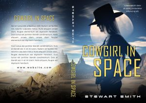 Cowgirl In Space - Space Western / Space Romance Premade Book Cover For Sale @ Beetiful Book Covers