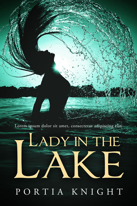 Lady in the Lake - Mermaid Fiction Premade Book Cover For Sale @ Beetiful Book Covers