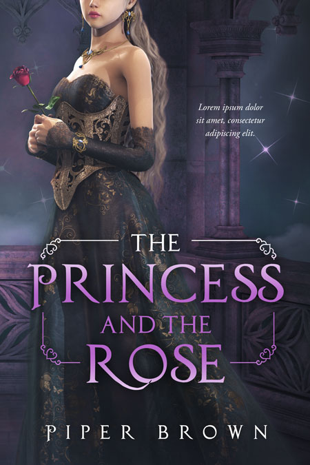 The Princess and the Rose - Fantasy Premade Book Cover For Sale @ Beetiful Book Covers