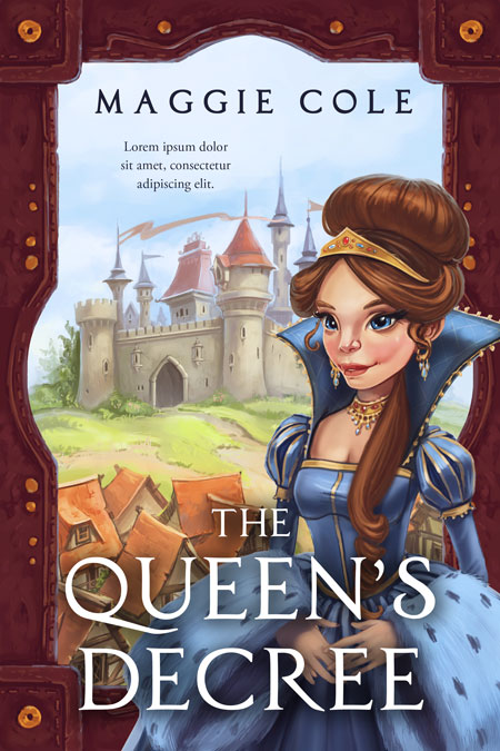 The Queen's Decree - Middle-grade Fantasy Premade Book Cover For Sale @ Beetiful Book Covers