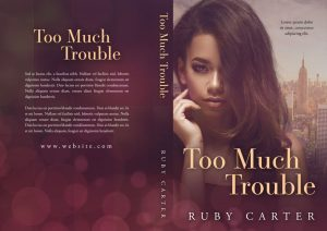 Too Much Trouble - African-American Romance Premade Book Cover For Sale @ Beetiful Book Covers