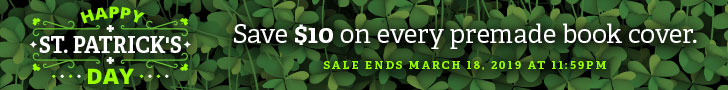 Happy St. Patrick's Day! Save $10 on every premade book cover
