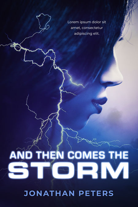 And Then Comes the Storm - Fantasy / Thriller Premade Book Cover For Sale @ Beetiful Book Covers