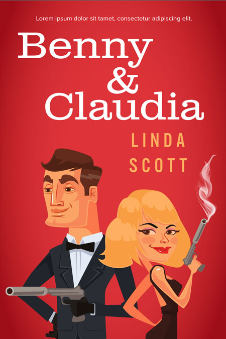 Benny & Claudia - Chick Lit / Romance Premade Book Cover For Sale @ Beetiful Book Covers