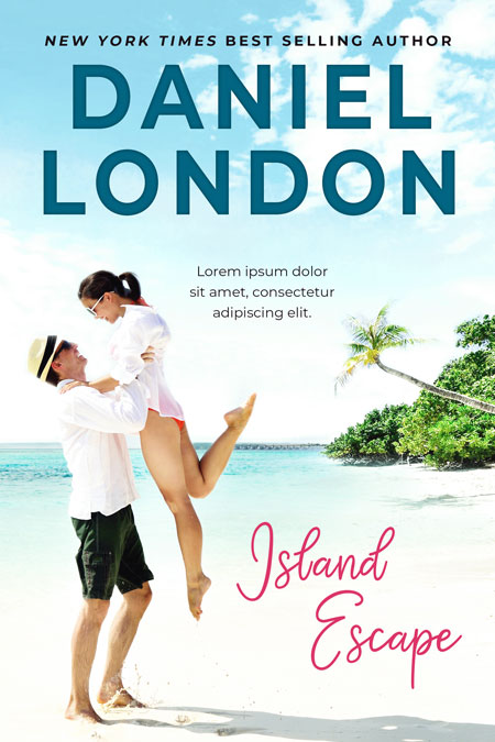 Island Escape - Contemporary Romance Premade Book Cover For Sale @ Beetiful Book Covers