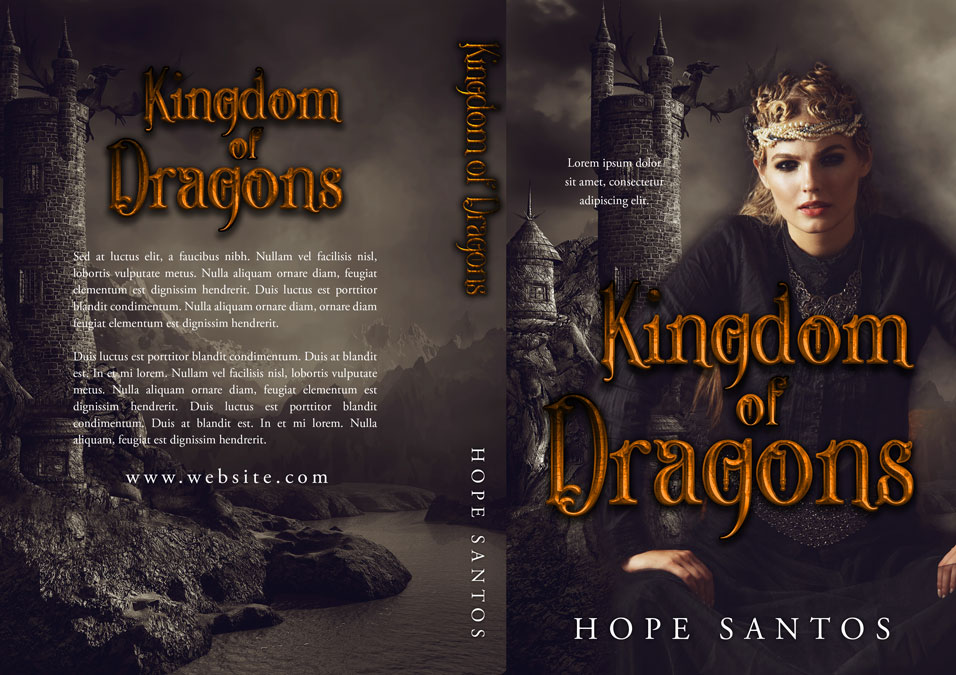 Kingdom of Dragons - Fantasy Premade Book Cover For Sale @ Beetiful Book Covers