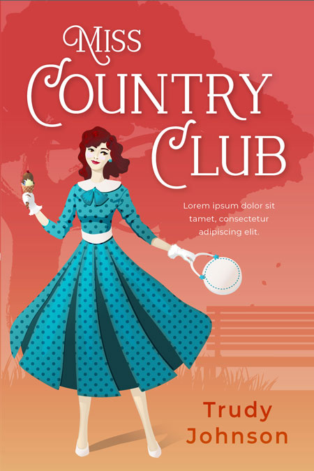 Miss Country Club - Chick Lit / Romance Premade Book Cover For Sale @ Beetiful Book Covers