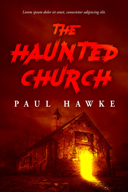 The Haunted Church - Horror Premade Book Cover For Sale @ Beetiful Book Covers