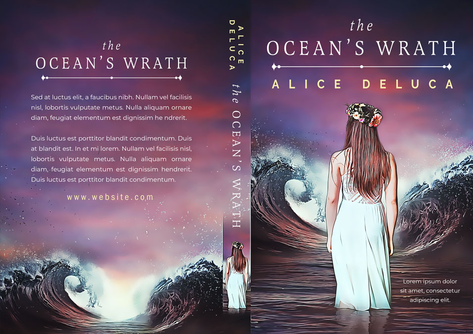 The Ocean's Wrath - Fantasy Premade Book Cover For Sale @ Beetiful Book Covers
