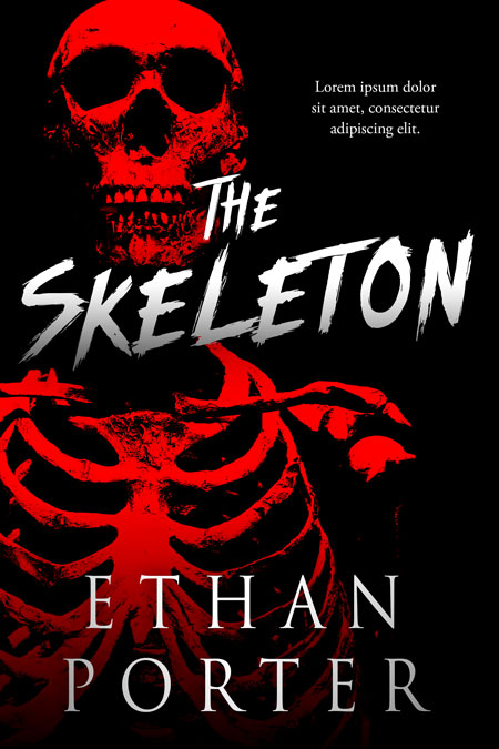 The Skeleton - Horror Premade Book Cover For Sale @ Beetiful Book Covers