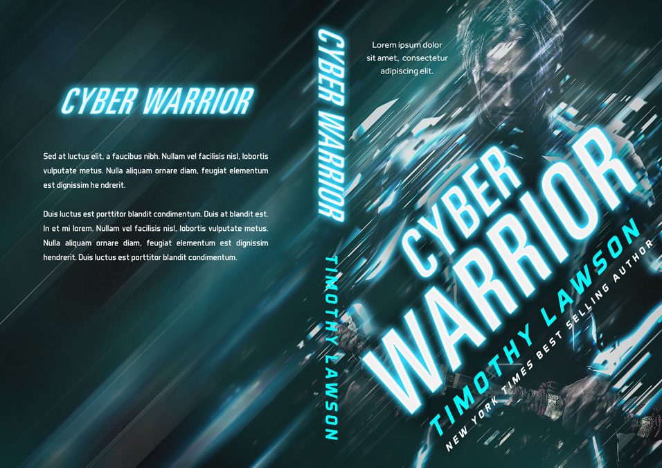 Cyber Warrior - Science Fiction Premade Book Cover For Sale @ Beetiful Book Covers