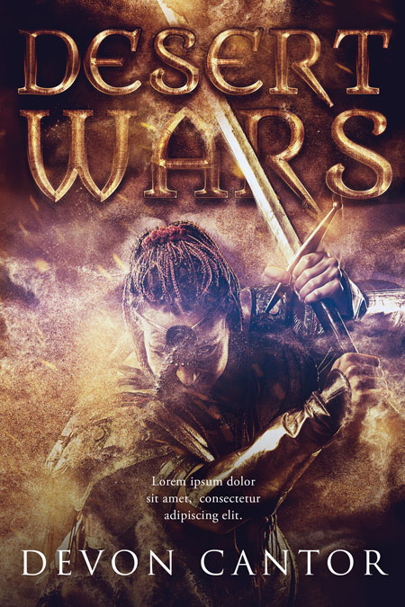 Desert War - Fantasy Premade Book Cover For Sale @ Beetiful Book Covers