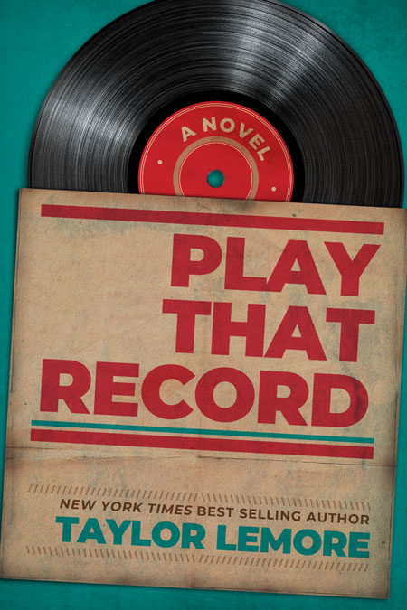 Play That Record - Retro Music Book Cover For Sale @ Beetiful Book Covers