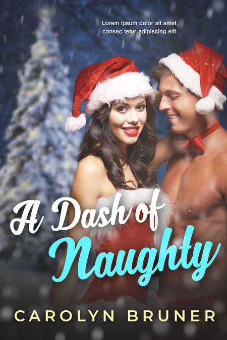 A Dash of Naughty - Christmas Romance Premade Book Cover For Sale @ Beetiful Book Covers