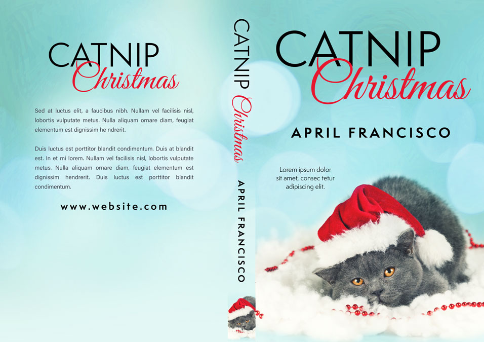 Catnip Christmas - Christmas Premade Book Cover For Sale @ Beetiful Book Covers