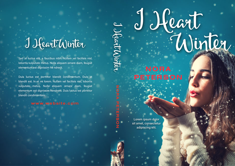I Heart Winter - Winter Premade Book Cover For Sale @ Beetiful Book Covers