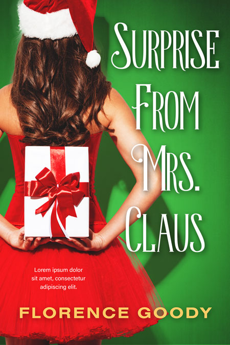 Surprise From Mrs. Claus - Christmas Romance Premade Book Cover For Sale @ Beetiful Book Covers