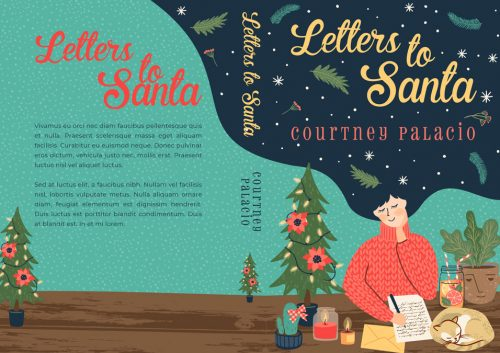 Letters To Santa - Christmas Chick-lit Premade Book Cover For Sale @ Beetiful Book Covers