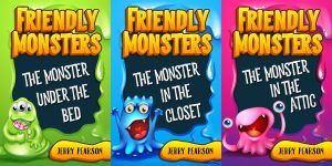 Friendly Monsters - Middle-grade Fantasy Series Premade Book Covers For Sale - Beetiful