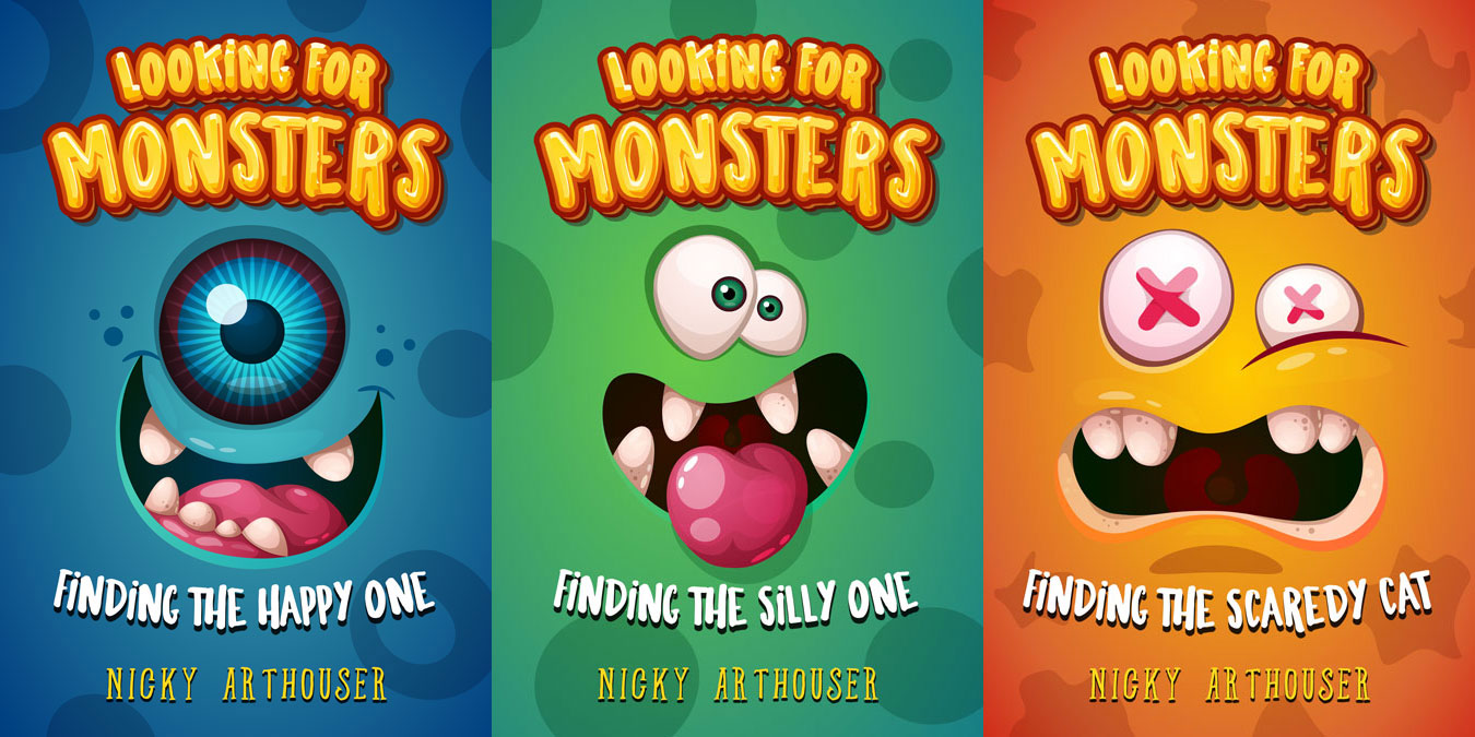 Looking For Monsters - Middle-grade Monster Series Premade Book Covers For Sale - Beetiful