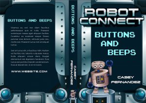 Robot Connect - Middle-grade Science Fiction Series Premade Book Covers For Sale - Beetiful
