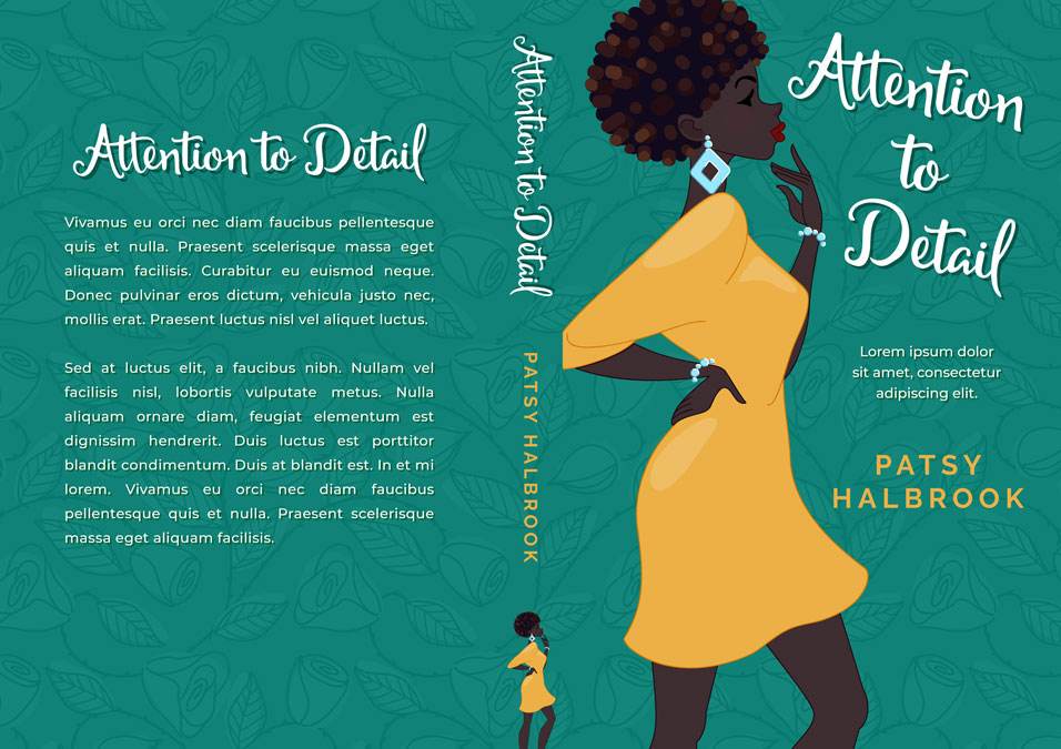 Attention to Detail - Illustrated African-American Chick-lit Premade Book Cover For Sale @ Beetiful Book Covers