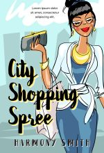 City Shopping Spree – Illustrated Chick-lit Premade Book Cover For Sale @ Beetiful Book Covers