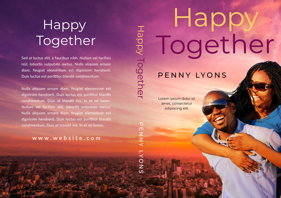 Happy Together - African-American Romance Premade Book Cover For Sale @ Beetiful Book Covers