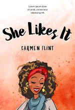 She Likes It – Illustrated African-American Chick-lit Premade Book Cover For Sale @ Beetiful Book Covers
