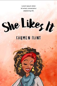 She Likes It - Illustrated African-American Chick-lit Premade Book Cover For Sale @ Beetiful Book Covers