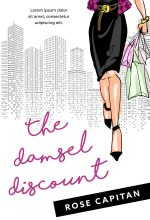 The Damsel Discount – Illustrated Chick-lit Premade Book Cover For Sale @ Beetiful Book Covers