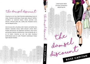 The Damsel Discount - Illustrated Chick-lit Premade Book Cover For Sale @ Beetiful Book Covers