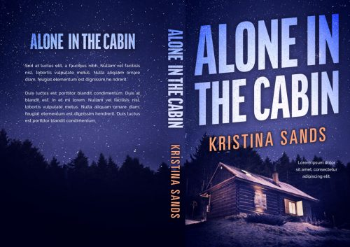 Alone in the Cabin - Mystery / Suspense / Thriller Premade Book Cover For Sale @ Beetiful Book Covers