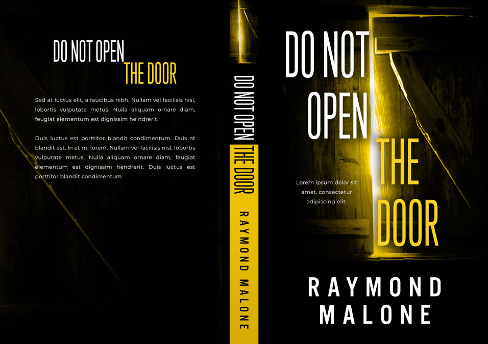 Do Not Open the Door - Horror / Thriller Premade Book Cover For Sale @ Beetiful Book Covers