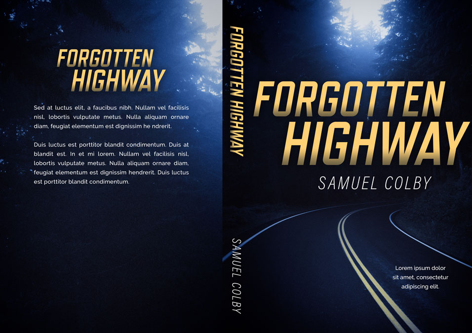 Forgotten Highway - Mystery / Suspense / Thriller Premade Book Cover For Sale @ Beetiful Book Covers
