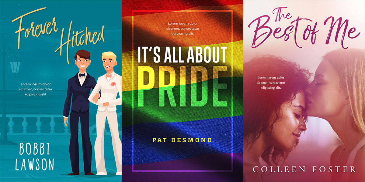 19 New LGBT Premade Book Covers Now For Sale!